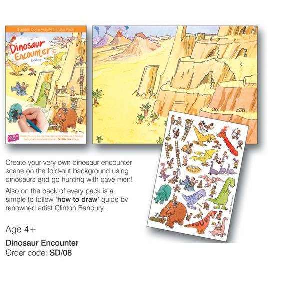 Dinosaur Land - Scribble Down Transfers