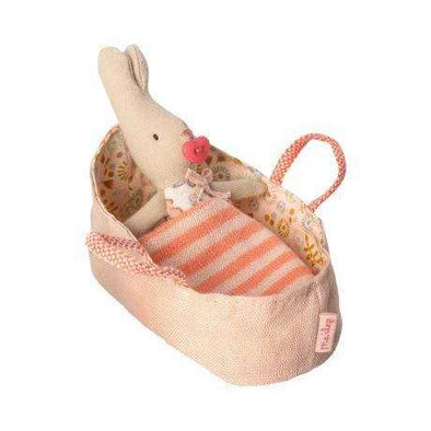 My Rabbit in a Rose Carry Cot