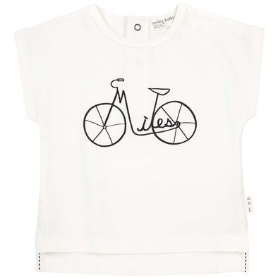 Girls White Miles Bicycle Shirt