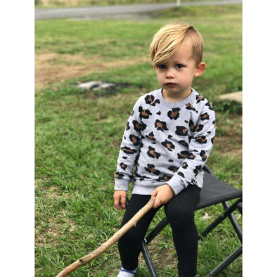 Kids Leopard Sweater