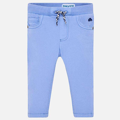 Light Blue Pants with Drawstring Waist