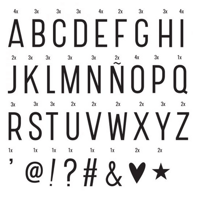 Lightbox Letter Set - Basic Black
