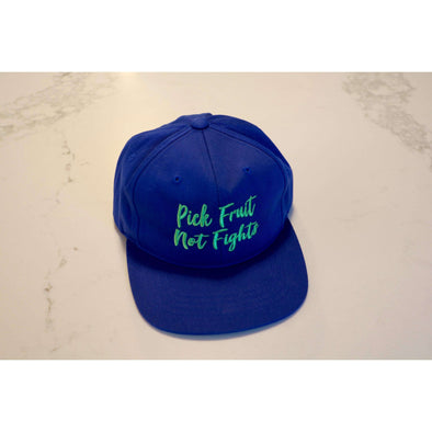 Pick Fruit Not Fights Hat - Royal Blue