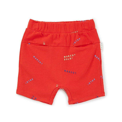 Red Marco Polo Pocket Shorts