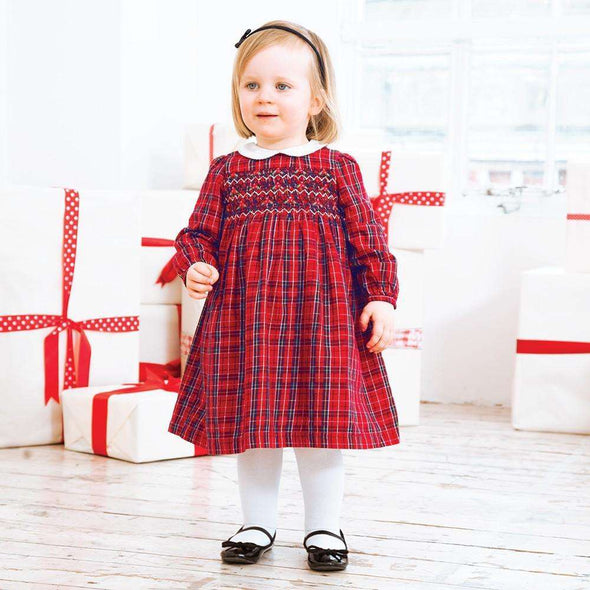 Tartan Smocked Party Dress