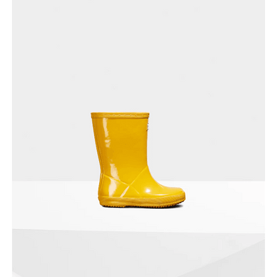 Original Kids First Classic Gloss Rain Boots: Yellow