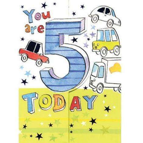 You Are 5 Today Card