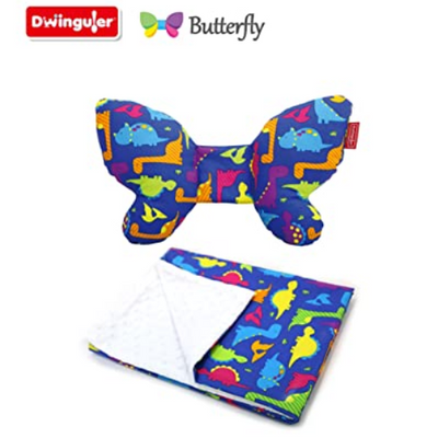 Dwinguler Butterfly Set - Head Support & Blanket (Dino)