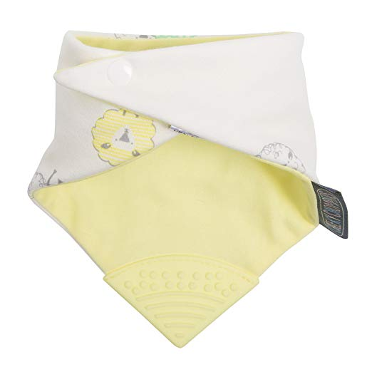 Cheeky Chompers 2-in-1 Teething Bandana Bib in Yellow
