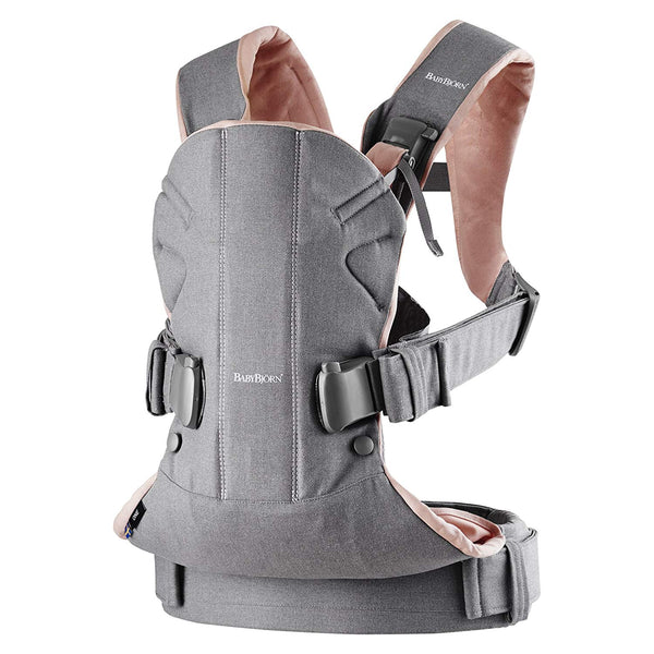 BABYBJÖRN New Baby Carrier One 2019 - Gray/Powder Pink