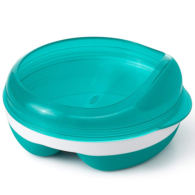 OXO Divided Feeding Dish With Removable Ring - Teal