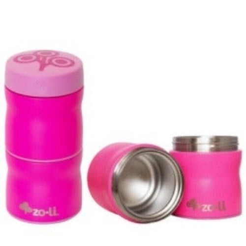 Zoli - THIS & THAT Double Tiered Vacuum Insulated Food Jar - Pink