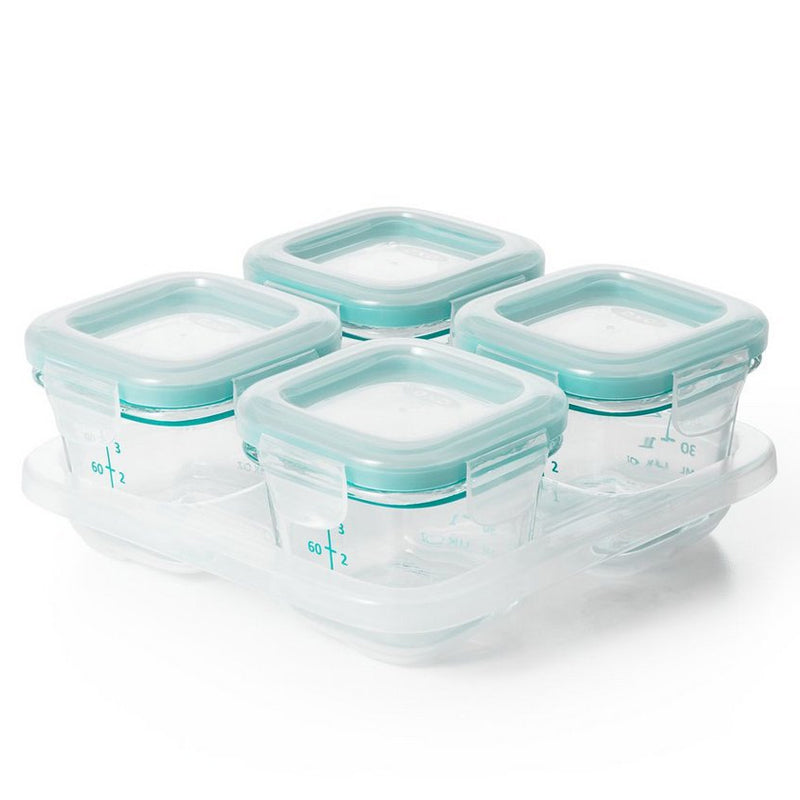 OXO Tot Glass Baby Blocks Food Storage Containers