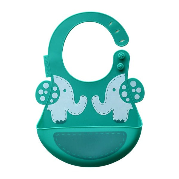 Marcus & Marcus Ollie the Elephant Adjustable Silicone Baby Bib