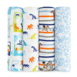 Aden+Anais the jungle book 4-pack classic swaddles