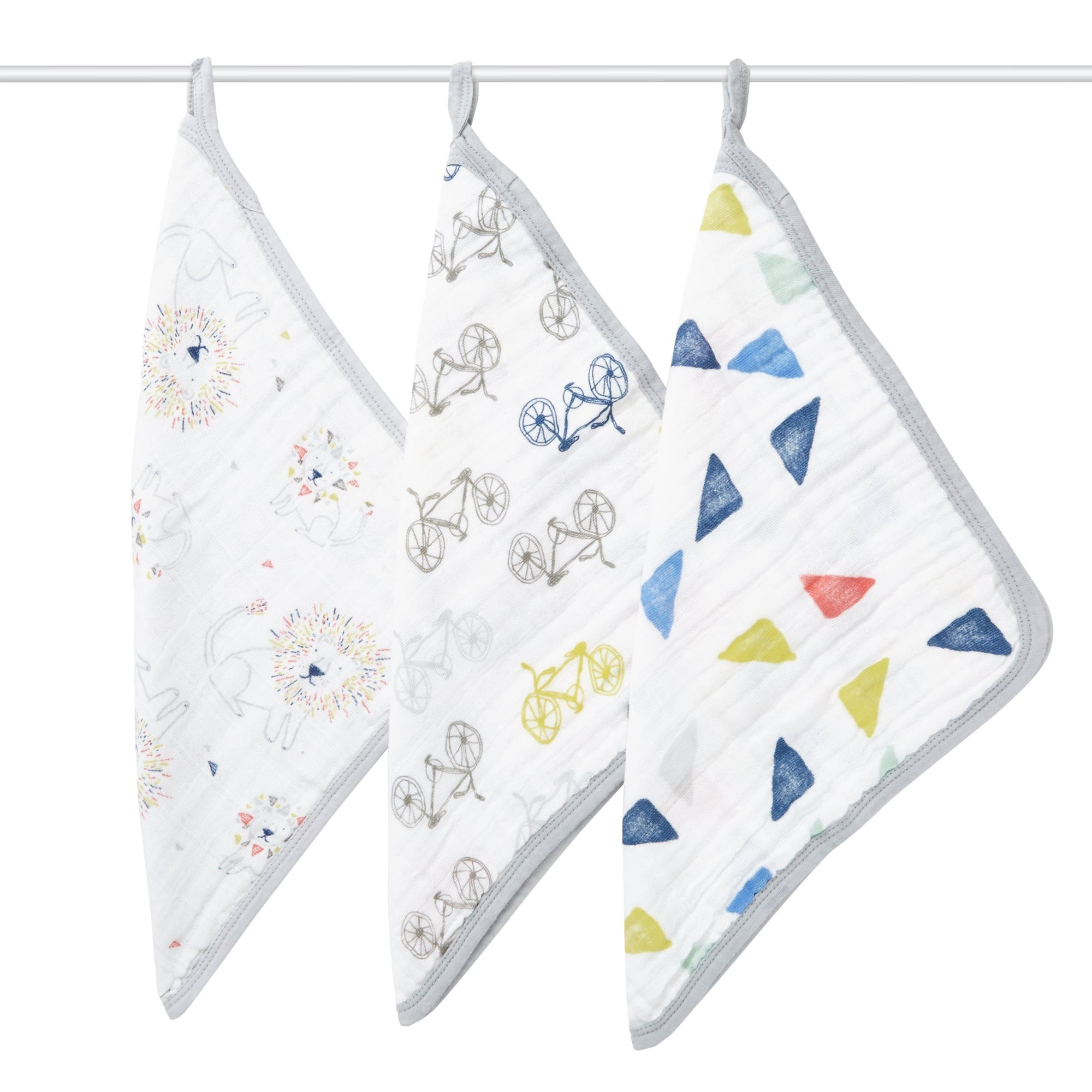 Aden+Anais 3-Pack Muslin Washcloths in Leader
