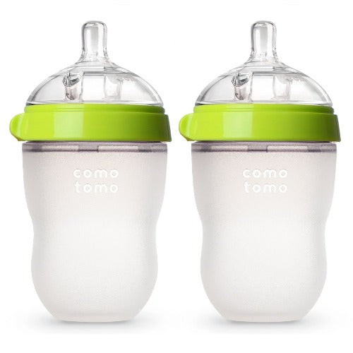 Comotomo Natural Feel Baby Bottle - Double Green 8 Oz