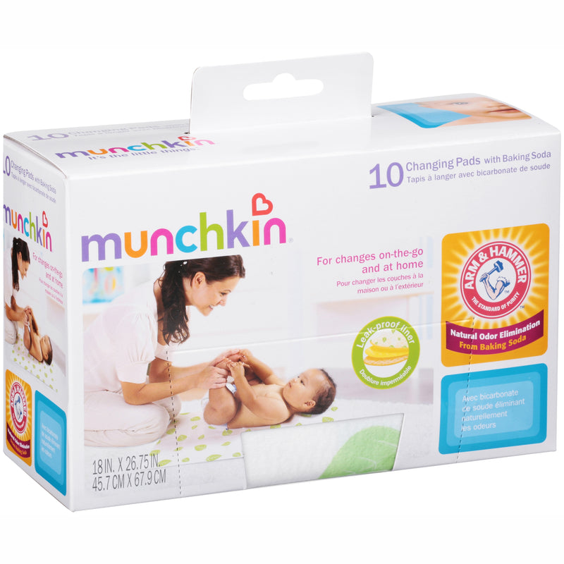 Munchkin Arm and Hammer Disposable Changing Pad, 10 Count