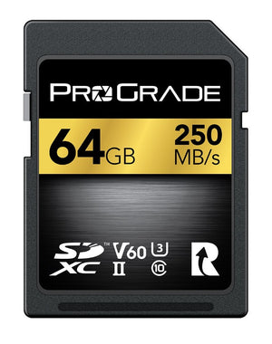 ProGrade Digital SDXC UHS-II V60 250R Memory Card
