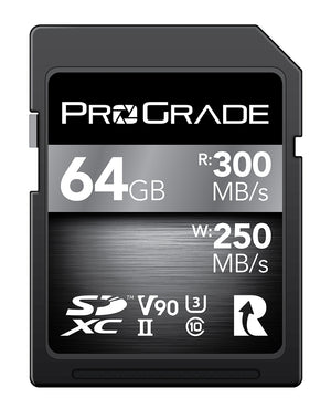 ProGrade Digital SDXC UHS-II V90 300R Memory Card