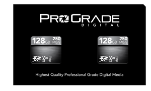 ProGrade Digital SDXC™ UHS-II, V90 Memory Card