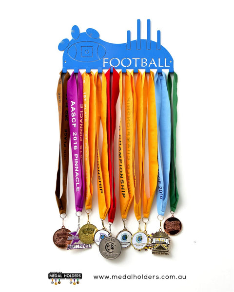 AFL Football Medal Holder - Powder Coated medal hanger - Premium quality sports medal displays by Australian Medal Holders