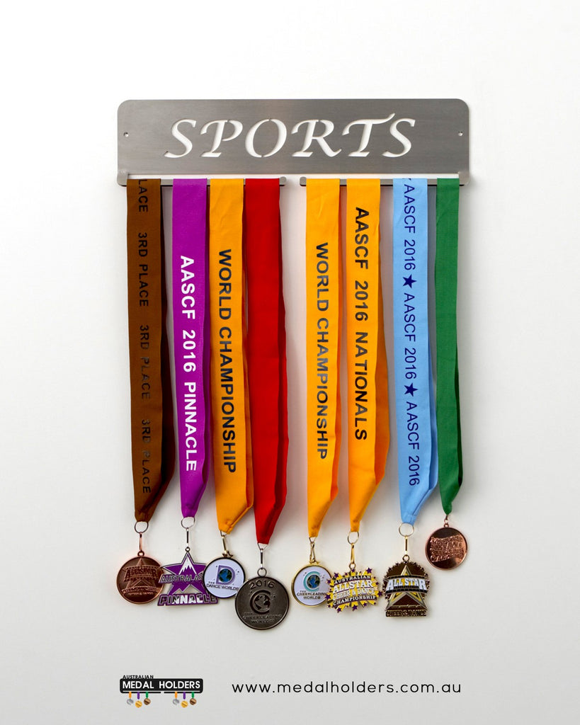 Sports Medal Holder – Stainless Steel premium quality sports medal displays by Australian Medal Holders