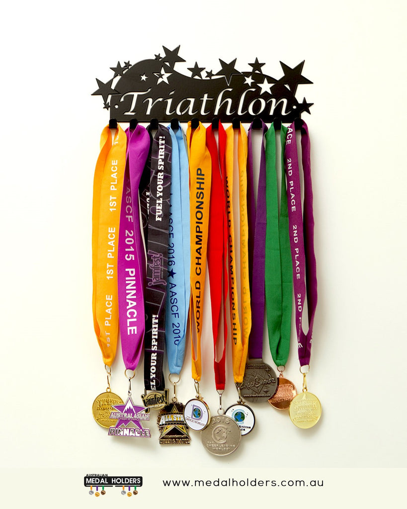 Sports Medal Hangers - Australian Medal Holder - Australia made triathlon medal display
