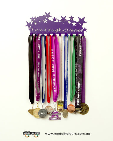 Live Laugh Dream Medal Holder - Premium quality sports medal displays by Australian Medal Holders