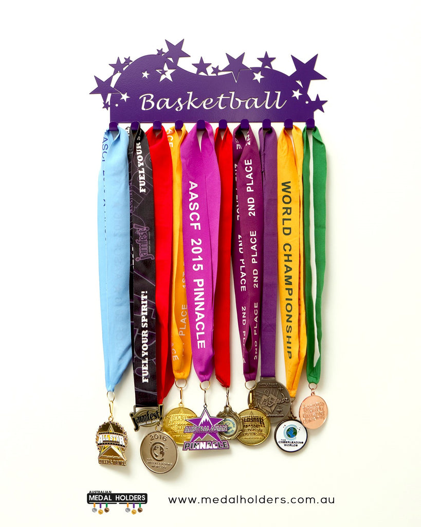 Basketball Medal Display - Premium quality sports medal displays by Australian Medal Holders - Australian Hangers