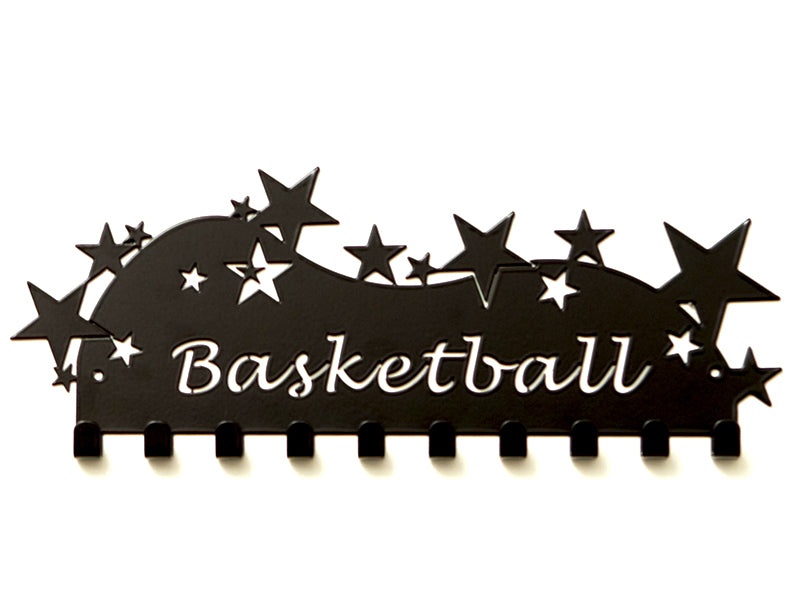 Basketball Medal Display - Black Premium quality basketball medal displays by Australian Medal Holders