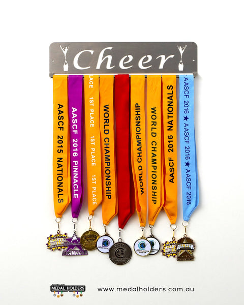 Cheer Medal Holder - Australian Hangers - Stainless Steel Premium quality Cheer Stainless Steel medal displays by Australian Medal Holders