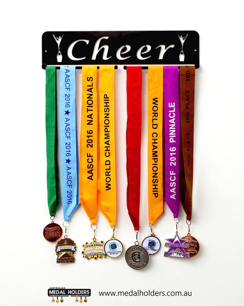 'Cheer' rectangle Medal Holder