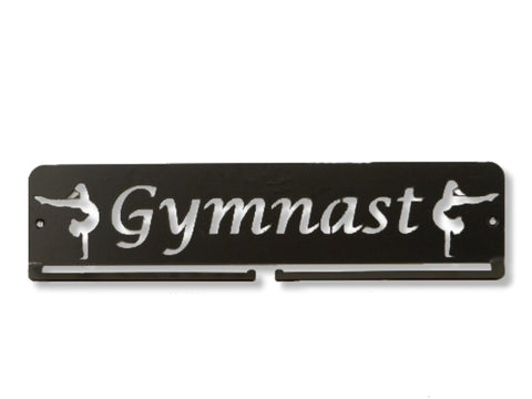 Gymnast Medal Holder - Premium quality sports medal displays by Australian Medal Holders - Black rectangle hangers