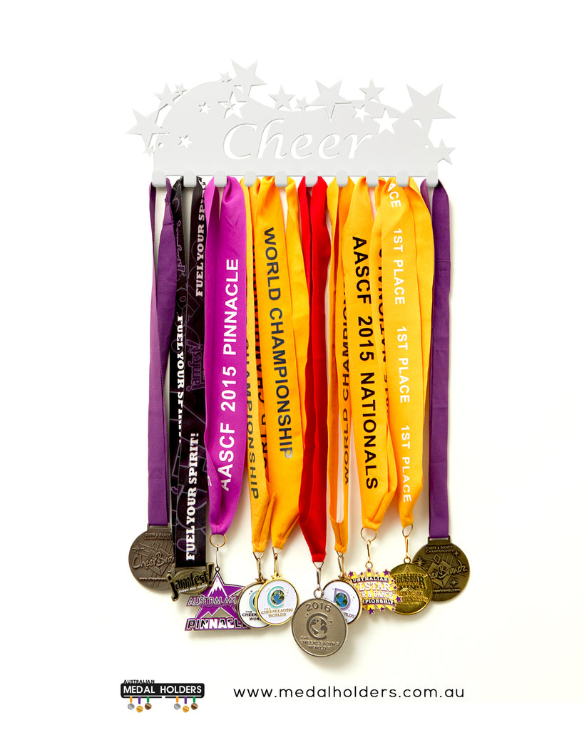 Cheer Medal Holder - Star Cheer medal displays by Australian Medal Holders