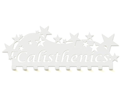 Calisthenics Medal Holder - White Premium Quality Calisthenics medal displays by Australian Medal Holders