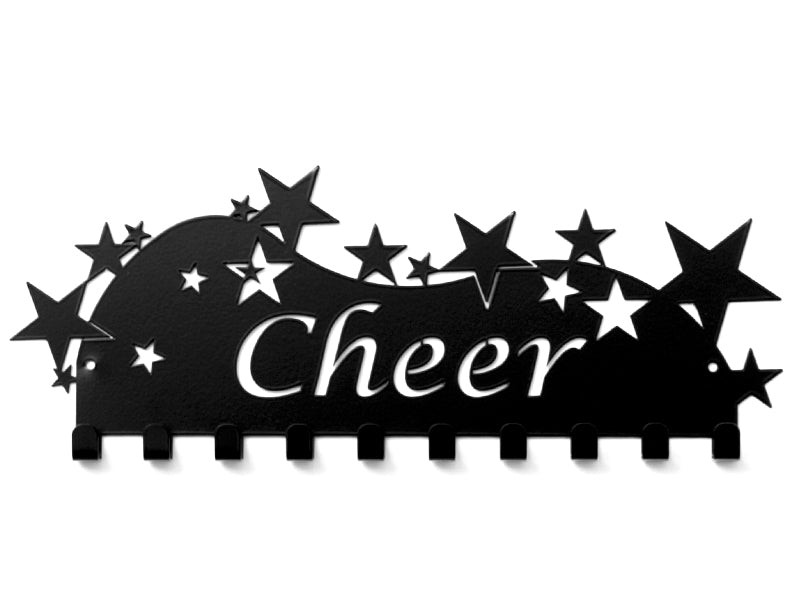 Cheer Medal Holder - Black Cheer medal displays by Australian Medal Holders