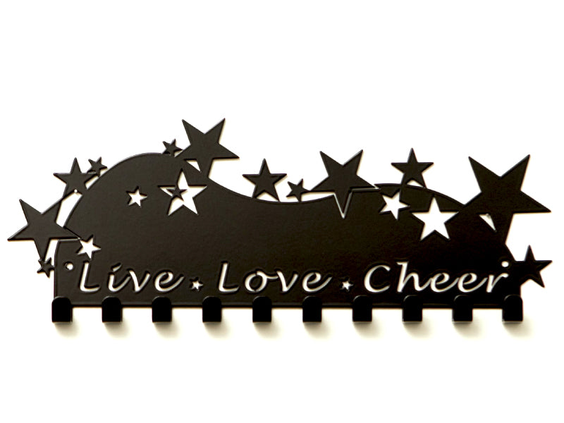 Live Love Cheer Medal Holder - Premium quality sports medal displays by Australian Medal Holders