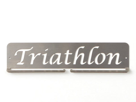 Triathlon Medal Holder - Stainless Steel- Premium quality sports medal displays by Australian Medal Holders