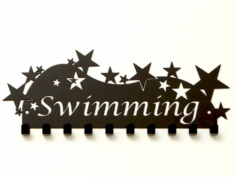 Swimming Medal Holder - Black Premium quality Swimming medal displays by Australian Medal Holders - Australian Hangers