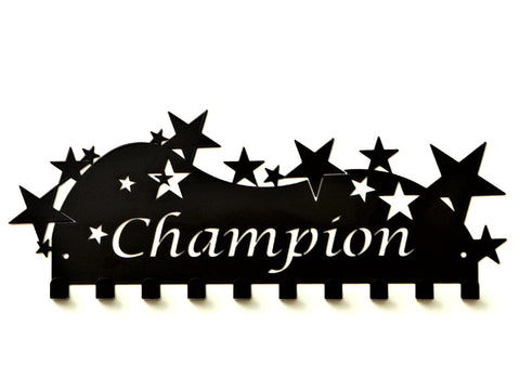 Champion Medal Holder - Black Premium Quality Champion medal displays by Australian Medal Holders