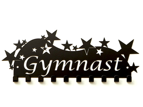 Gymnast Medal Holder - Premium quality sports medal displays by Australian Medal Holders - Black Powder Coated