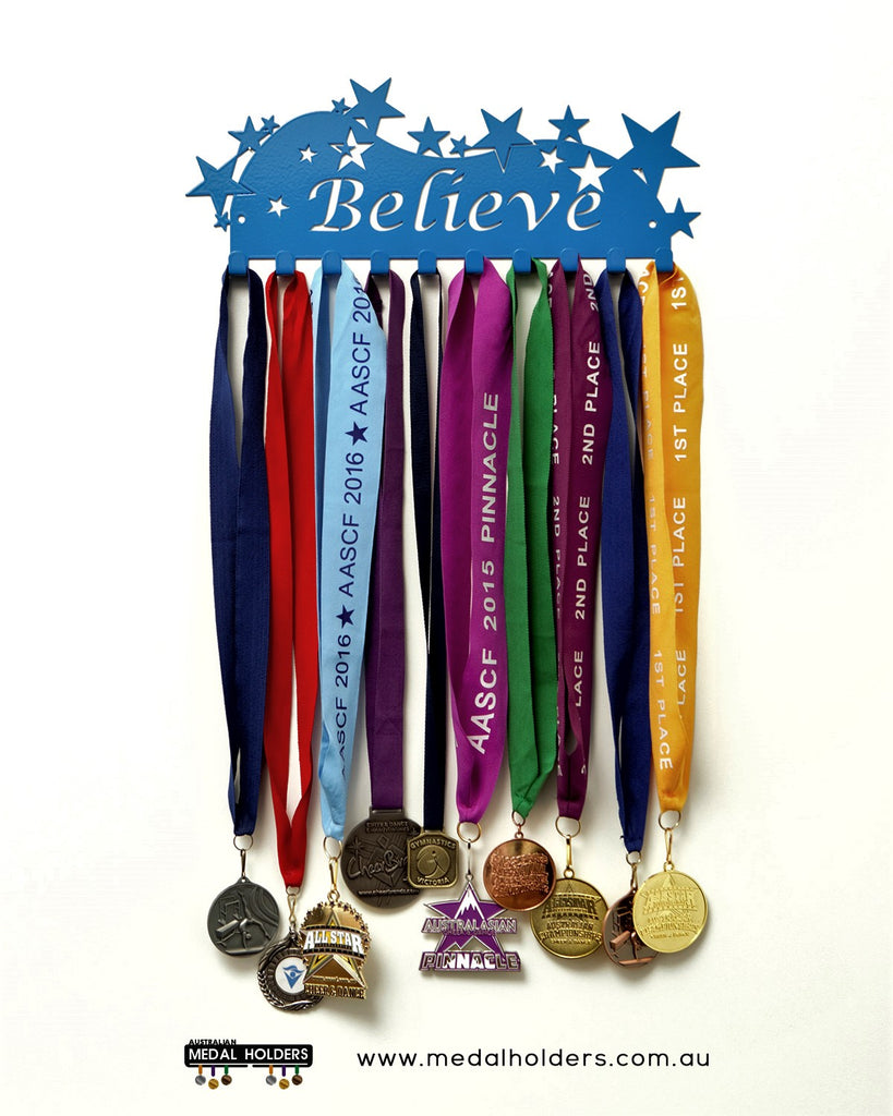 Believe Medal Hanger - Premium Quality Powder Coated medal hanger - sports medal displays by Australian Medal Holders