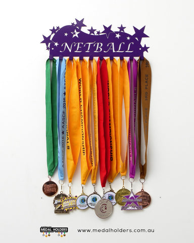 Netball Medal Holder - Powder Coated medal hanger - Premium quality sports medal displays by Australian Medal Holders