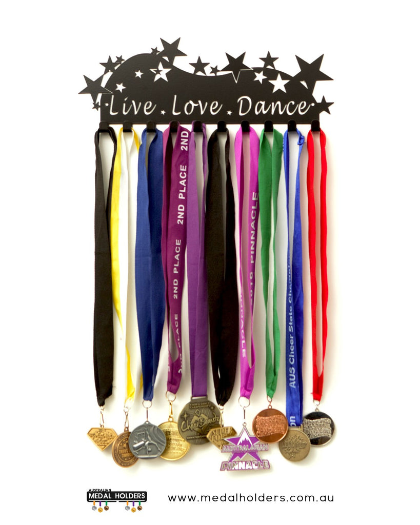 Live Love Dance Medal Hanger - Premium Quality Powder Coated medal hanger - sports medal displays by Australian Medal Holders