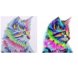 Colourful Cat Diamond Painting