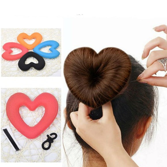Heart Shape Hair Bun Maker