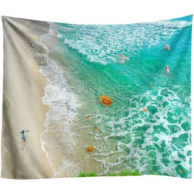 Turquoise Beach Tapestry