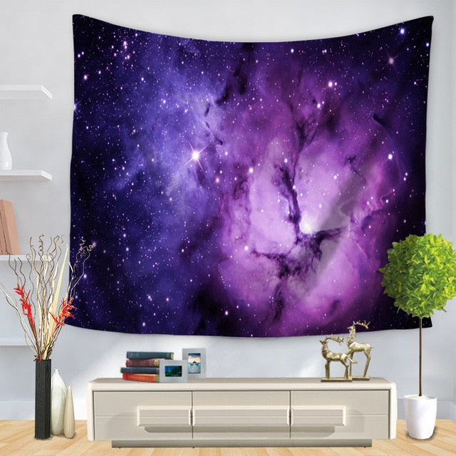 Purple Galaxy Tapestry