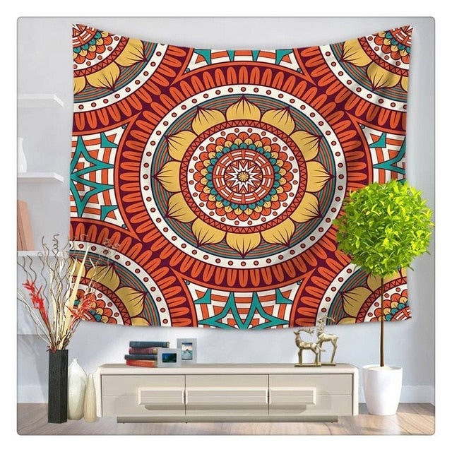 Lotus Mexican Tapestry